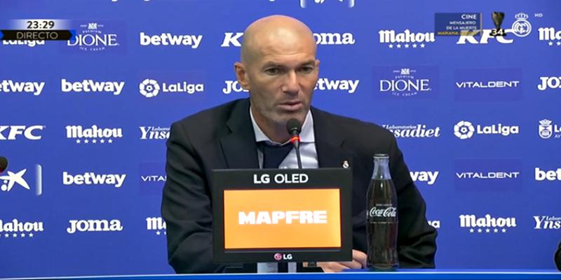 VÍDEO   Rueda de prensa de Zinedine Zidane tras el partido ante el Leganés