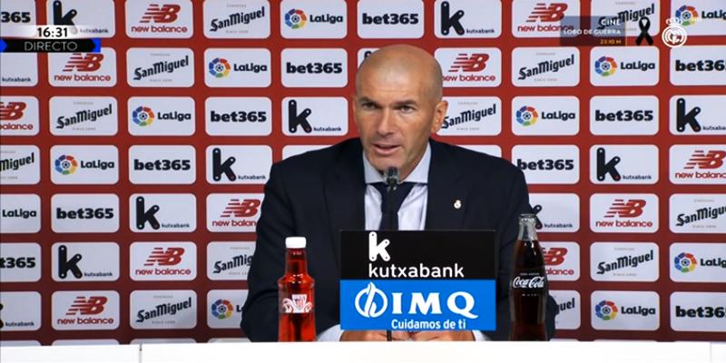 VÍDEO   Rueda de prensa de Zinedine Zidane tras el partido ante el Athletic Club Bilbao
