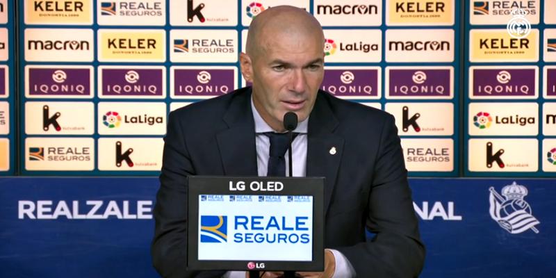 VÍDEO | Rueda de prensa de Zinedine Zidane tras el partido ante la Real Sociedad