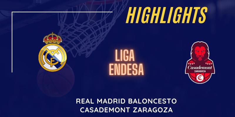 VÍDEO | Highlights | Real Madrid vs Casademont Zaragoza | Liga Endesa | Jornada 2