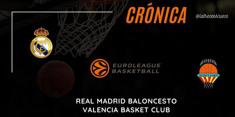 CRÓNICA | El Real Madrid se estrella en el bloqueo de Ponsarnau: Real Madrid 77 – 93 Valencia Basket