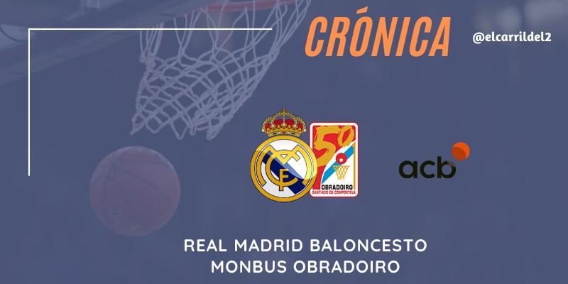 CRÓNICA | Sudar tinta: Real Madrid 84 – 77 Monbus Obradoiro
