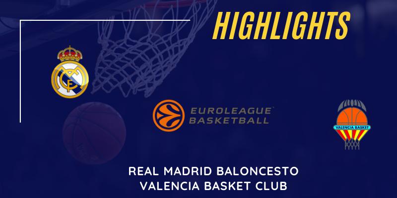 VÍDEO   Highlights   Real Madrid vs Valencia Basket   Euroleague   Jornada 2