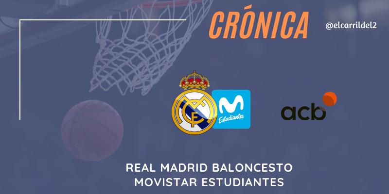 CRÓNICA | Derby sin historia: Real Madrid 93 – 77 Movistar Estudiantes