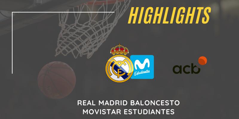 VÍDEO   Highlights   Real Madrid vs Movistar Estudiantes   Liga Endesa   J7