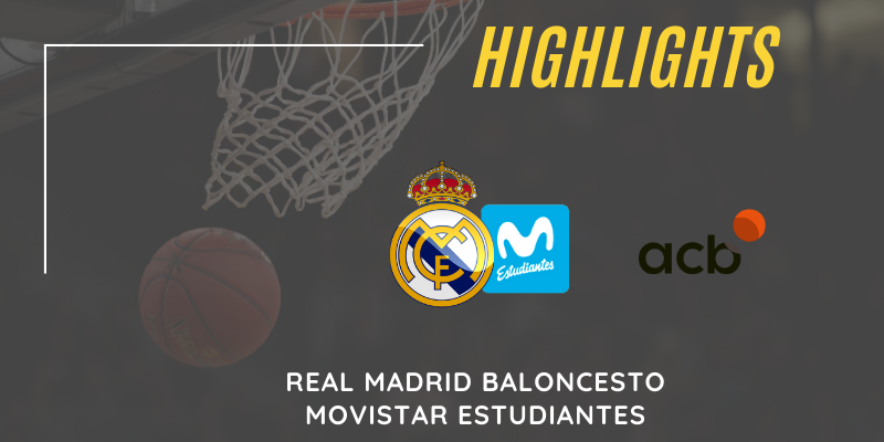 VÍDEO | Highlights | Real Madrid vs Movistar Estudiantes | Liga Endesa | J7
