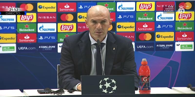 VÍDEO   Rueda de prensa de Zinedine Zidane tras el partido ante el Inter de Milán