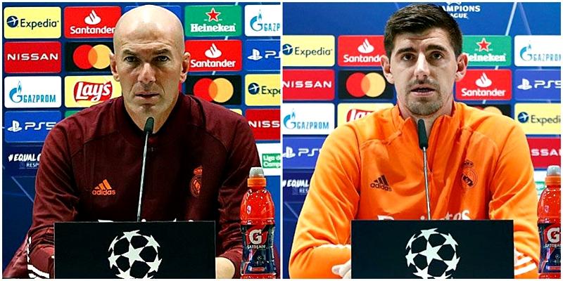 VÍDEO   Rueda de prensa de Zinedine Zidane y Thibaut Courtois previa al partido ante el Shakhtar Donetsk