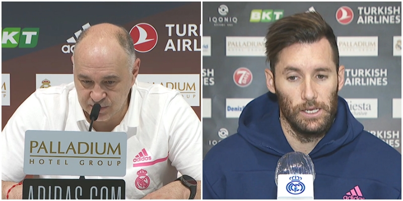 VÍDEO | Declaraciones de Pablo Laso y Rudy Fernández en la previa del partido ante el FC Barcelona