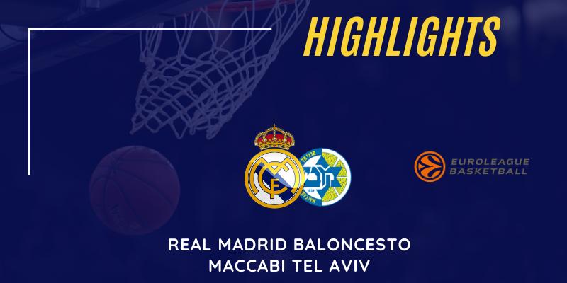 VÍDEO   Highlights   Real Madrid vs Maccabi Tel Aviv   Euroleague   Jornada 9