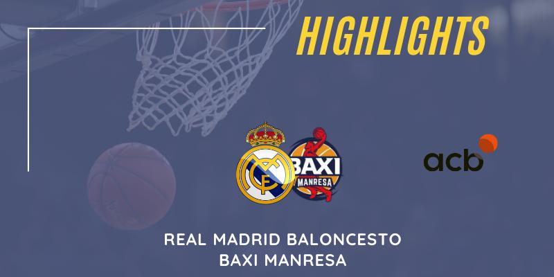 VÍDEO   Highlights   Real Madrid vs Baxi Manresa   Liga Endesa   Jornada 12