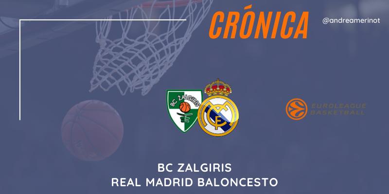 CRÓNICA | BC Zalgiris 90 – 93 Real Madrid