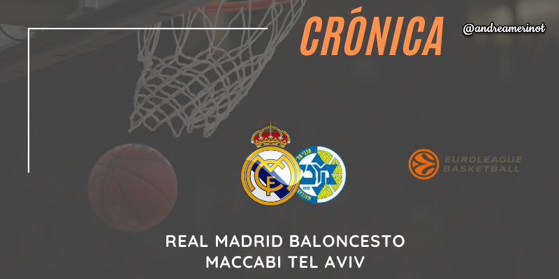 CRÓNICA | Real Madrid 79 – 63 Maccabi Tel Aviv | Euroleague | Jornada 9