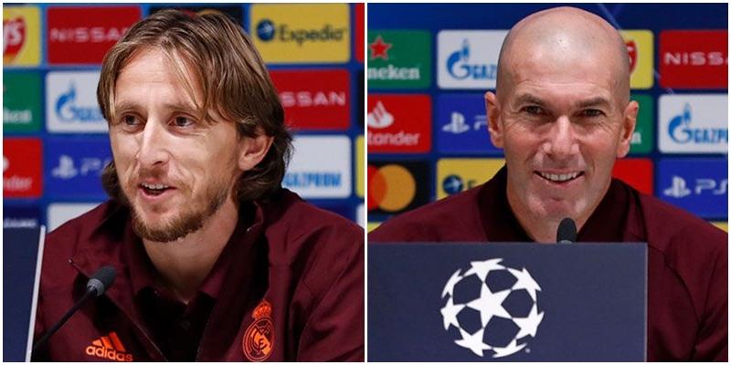 VÍDEO   Rueda de prensa de Luka Modric y Zinedine Zidane previa al partido ante el Inter de Milán