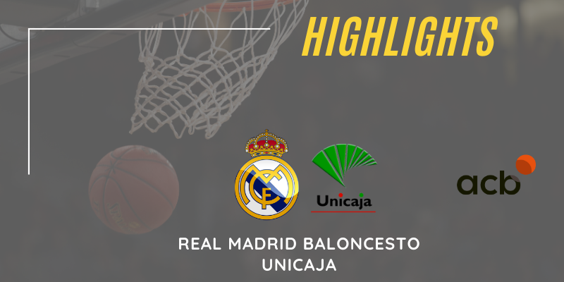 VÍDEO   Highlights   Real Madrid vs Unicaja   Liga Endesa   Jornada 14