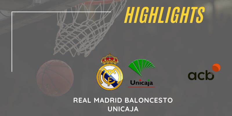VÍDEO | Highlights | Real Madrid vs Unicaja | Liga Endesa | Jornada 14