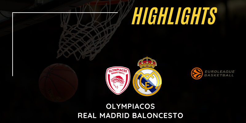 VÍDEO | Highlights | Olympiacos vs Real Madrid | Euroleague | Jornada 15