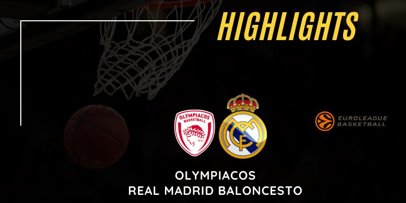 VÍDEO | Highlights | Olympiacos vs Real Madrid | Euroleague | Jornada 15