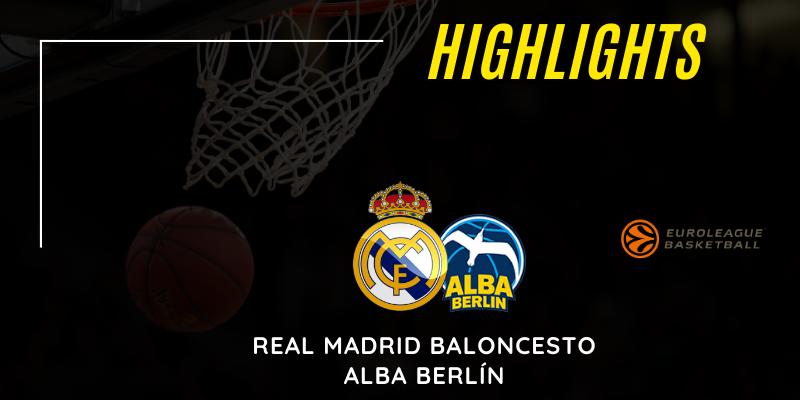 VÍDEO | Highlights | Real Madrid vs Alba Berlín | Euroleague | Jornada 16