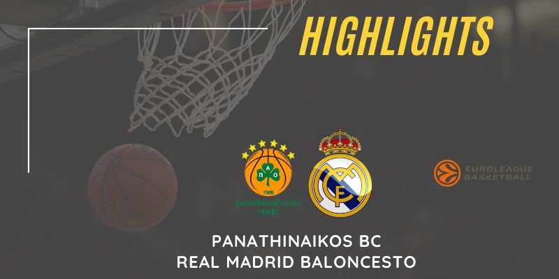 VÍDEO | Highlights | Panathinaikos vs Real Madrid | Euroleague | Jornada 14
