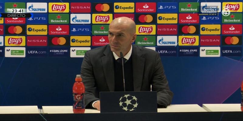 VÍDEO   Rueda de prensa de Zinedine Zidane tras el partido ante el Borussia Mönchengladbach