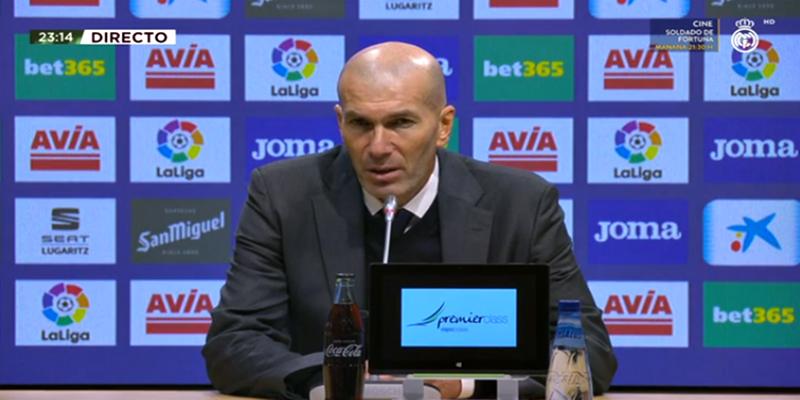 VÍDEO   Rueda de prensa de Zinedine Zidane tras el partido ante el Éibar