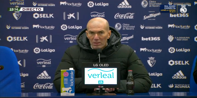 VÍDEO   Rueda de prensa de Zinedine Zidane tras el partido ante Osasuna