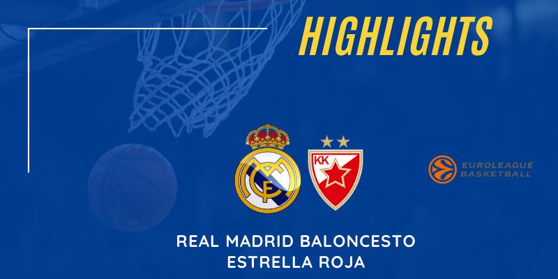 VÍDEO   Highlights   Real Madrid vs Estrella Roja   Euroleague   Jornada 19