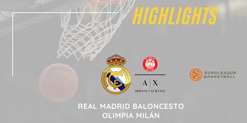 VÍDEO | Highlights | Real Madrid vs Olimpia Milán | Euroleague | Jornada 18