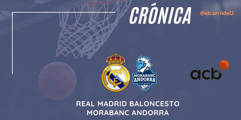 CRÓNICA | Tavares de tres: Real Madrid 86 – 79 Morabanc Andorra