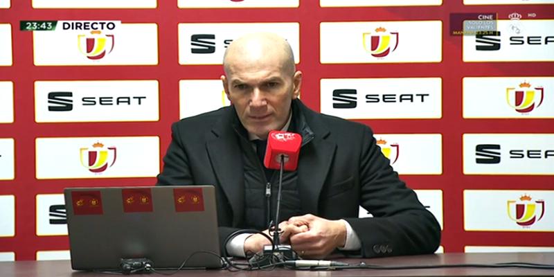 VÍDEO | Rueda de prensa de Zinedine Zidane tras el partido ante el Alcoyano