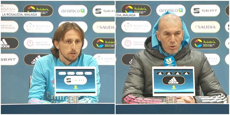 VÍDEO | Rueda de prensa de Luka Modric y Zinedine Zidane previa al partido ante el Athletic Club Bilbao