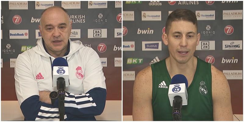 VÍDEO | Declaraciones de Pablo Laso y Jaycee Carroll en la previa del partido ante el Olimpia Milán