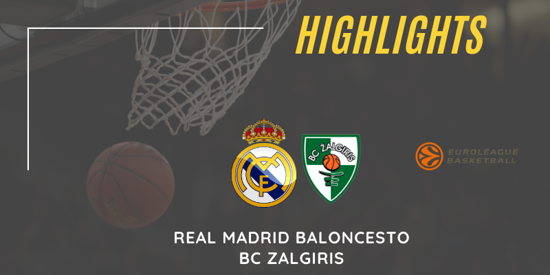 VÍDEO | Highlights | Real Madrid vs Zalgiris | Euroleague | Jornada 26
