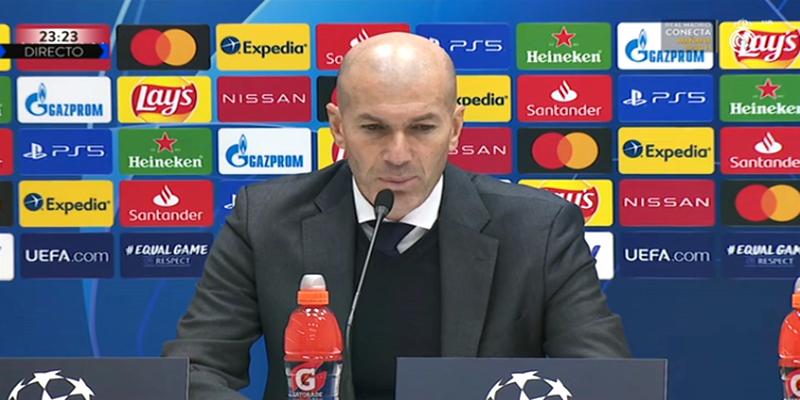 VÍDEO | Rueda de prensa de Zinedine Zidane tras el partido ante el Atalanta