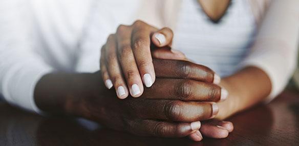 2 sets of hands together