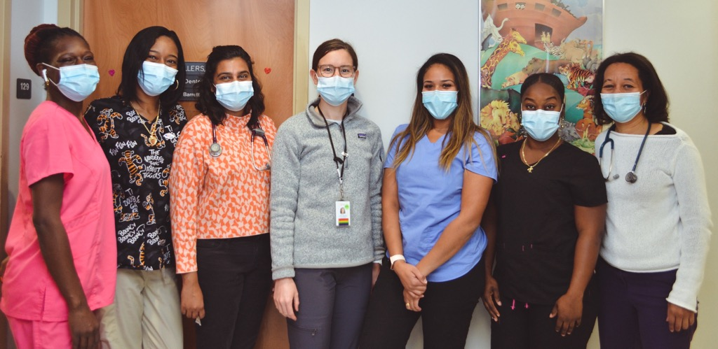 Photo of the pediatrics team