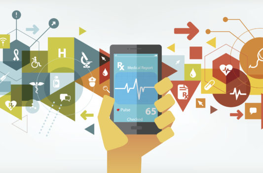 smartphone, healthcare, technology, digital, illustration, patient, records, ONC, patient experience