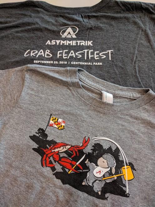 Asymmetrik CrabFeastFest gray T-shirt
