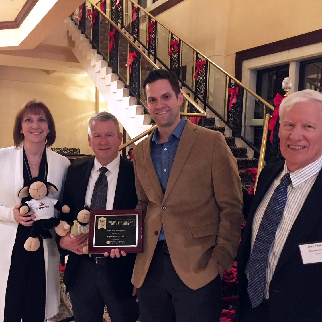 The Baltimore Sun Top Workplaces 2018 award