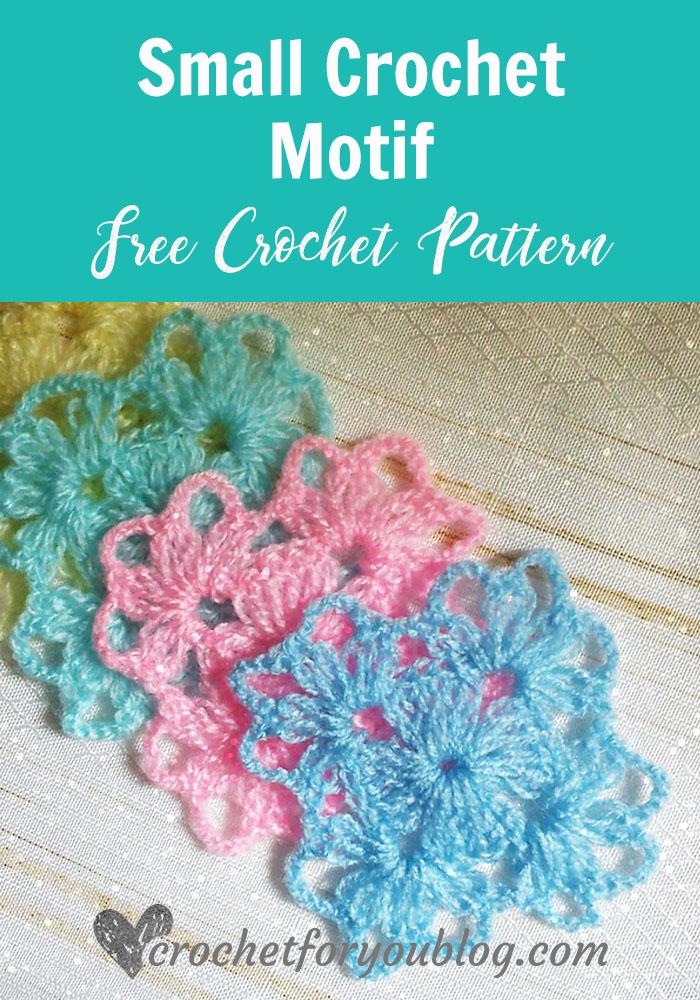 Small Crochet Motif - free crochet pattern
