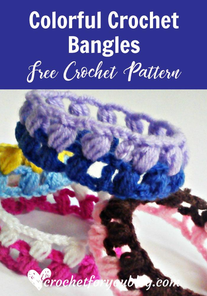 Colorful Crochet Bangles - free crochet pattern