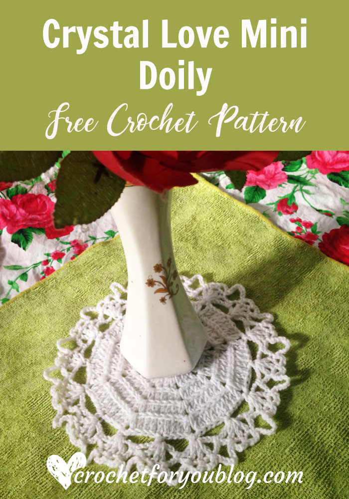 Crystal Love Mini Doily - free crochet pattern