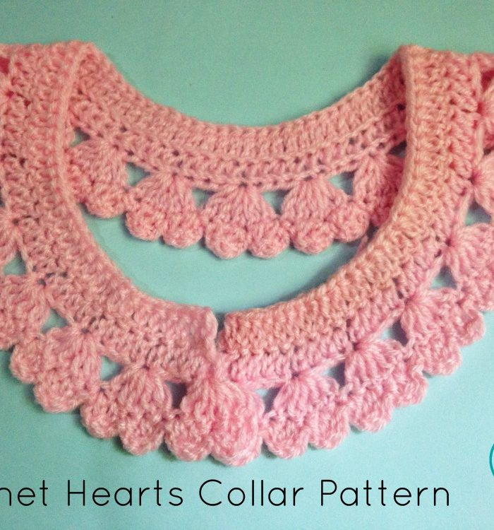 Crochet Hearts Collar Pattern - free pattern
