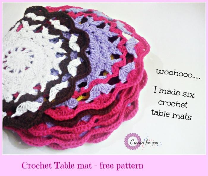 Crochet Table Mat - free pattern