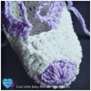 Cute Little Baby Booties - free crochet pattern