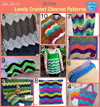 Link List 28 Lovely Crochet Chevron Patterns