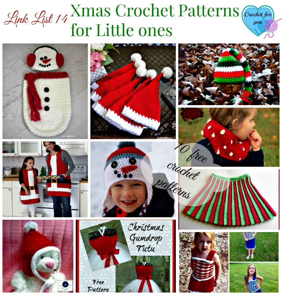 Link list 13 Xmas Crochet Patterns for little girls and boys
