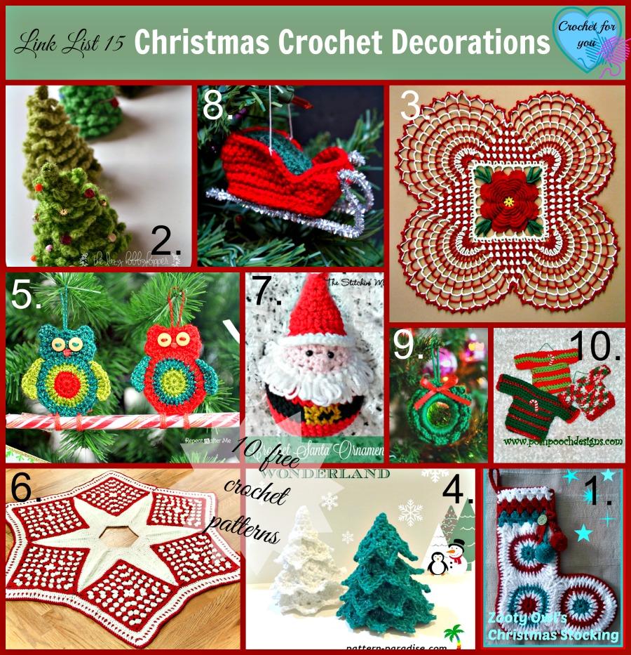 Link list 15 Christmas Crochet Decorations