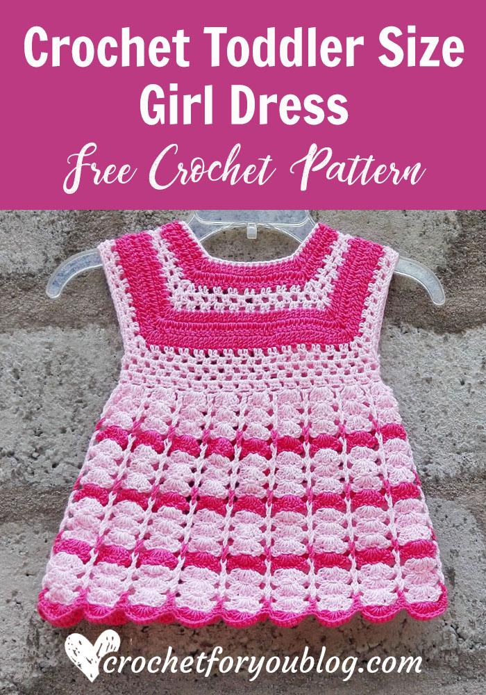 Crochet Toddler Size Girl Dres - free crochet pattern